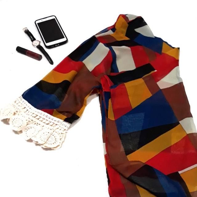 Kimono style chiffon cardigan