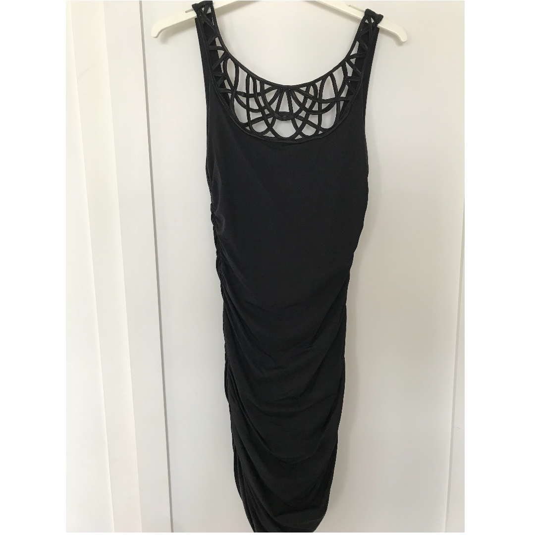KOOKAI - Black dress with neckline detail Size 1