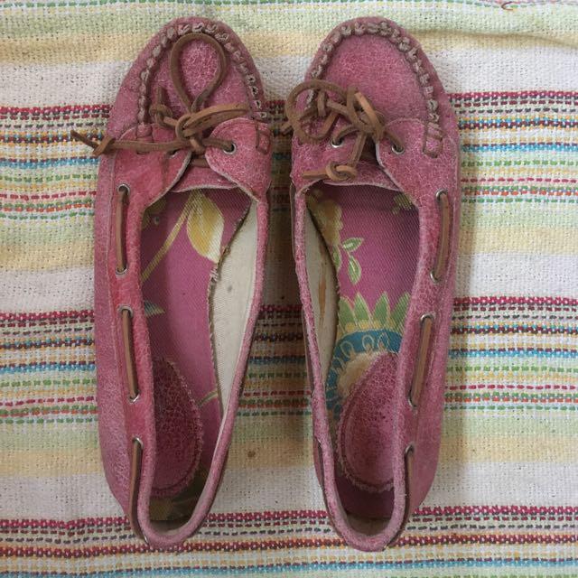 Lady flats loafer size 7 pastel pink