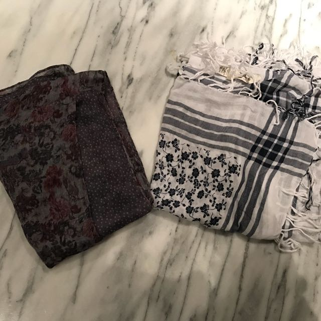 Large square scarves