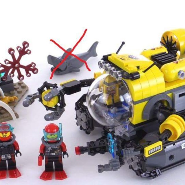 LEGO City Deep Sea Submarine 60092, Toys & Games, Other Toys on Carousell