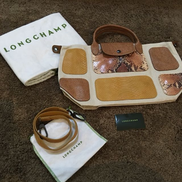 LONGCHAMP Patched Brown Bag