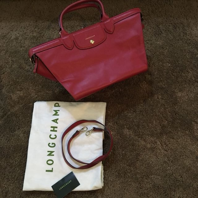 LONGCHAMP Trapeze Red Bag