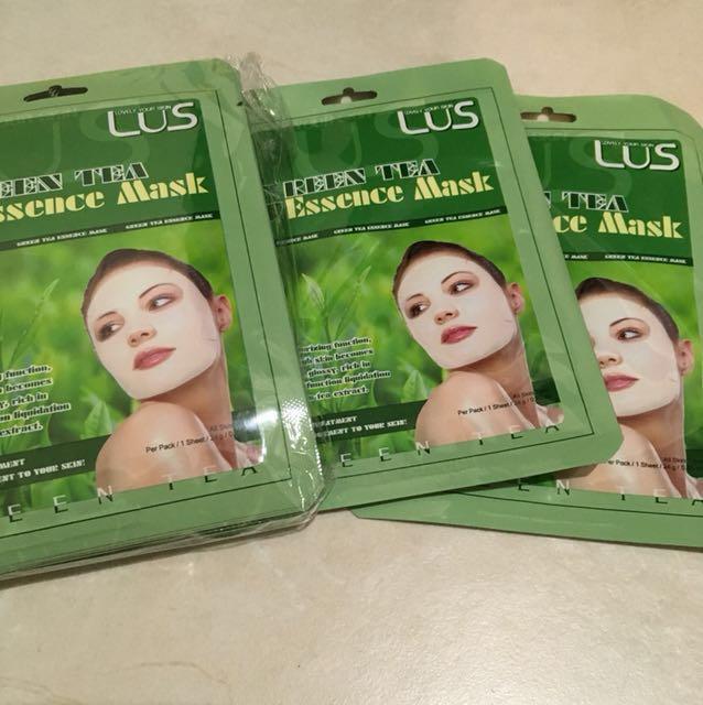 LUS green tea sheet masks