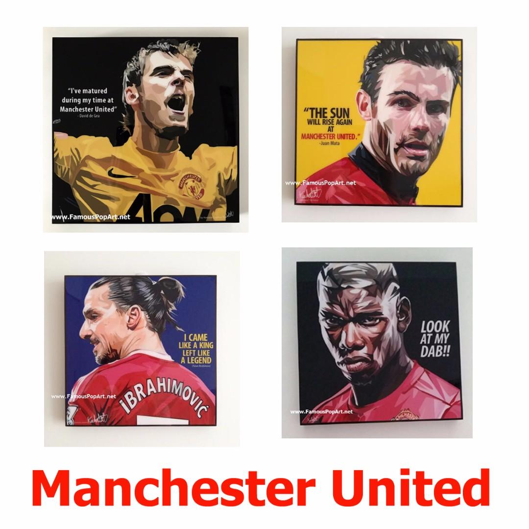 Manchester United 2 PopArt! Portrait Wall Decoration pop art