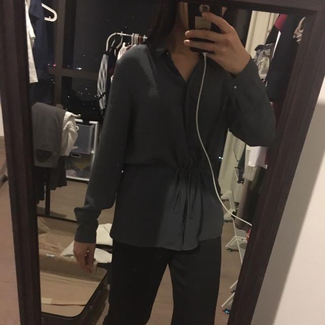 Mango shirt grey