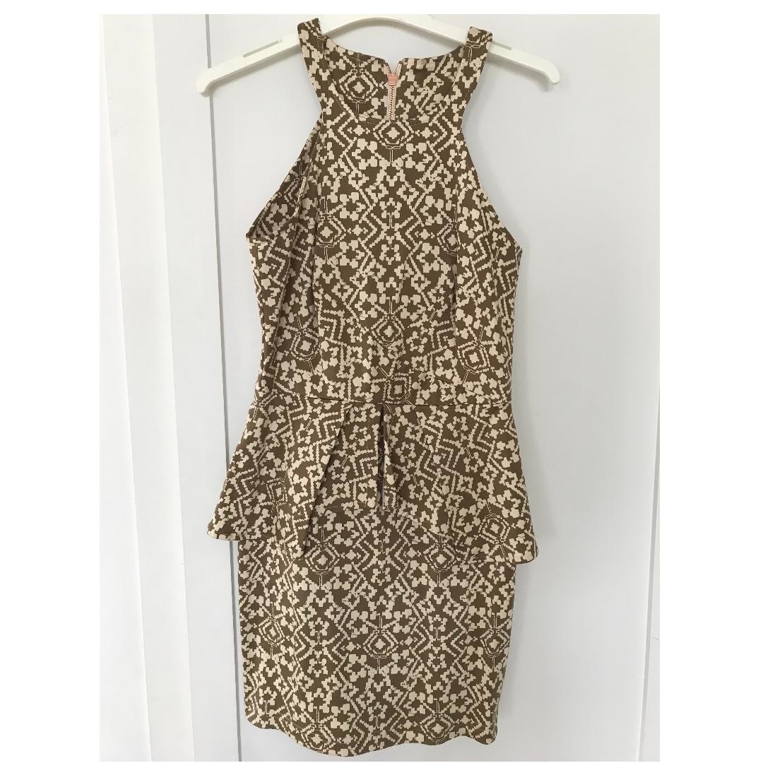 MAURIE & EVE - Printed peplum dress Size 8