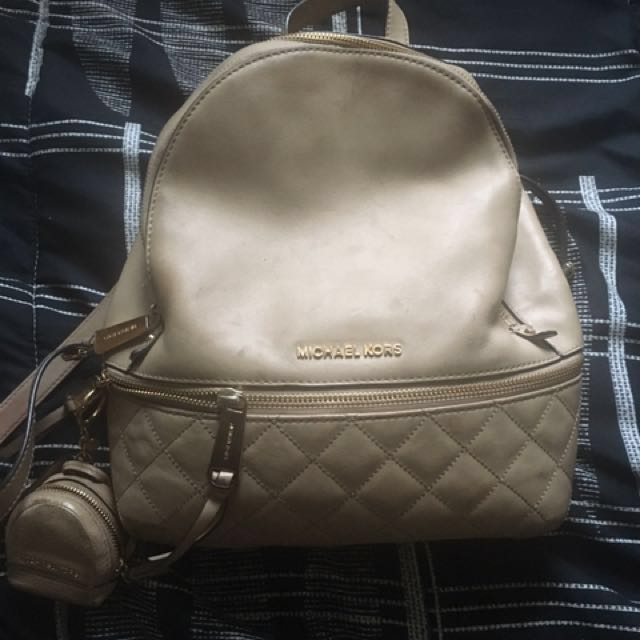 Michael kors backpack with keychain