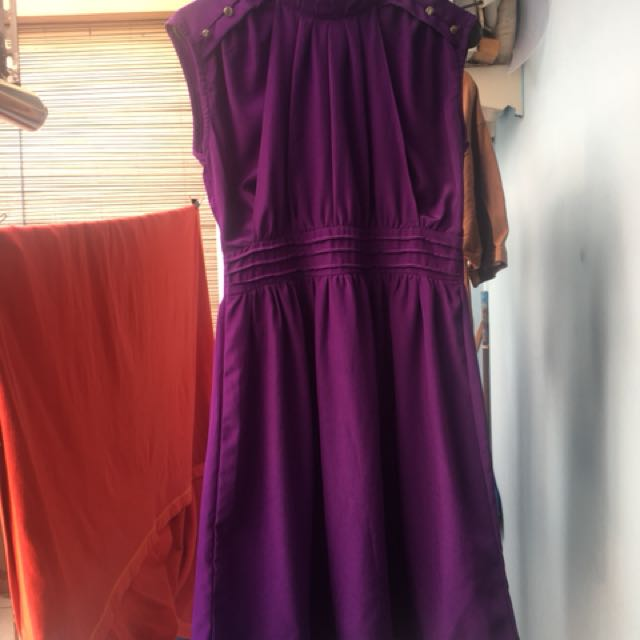 Midi dress / simple purple gown Nobby