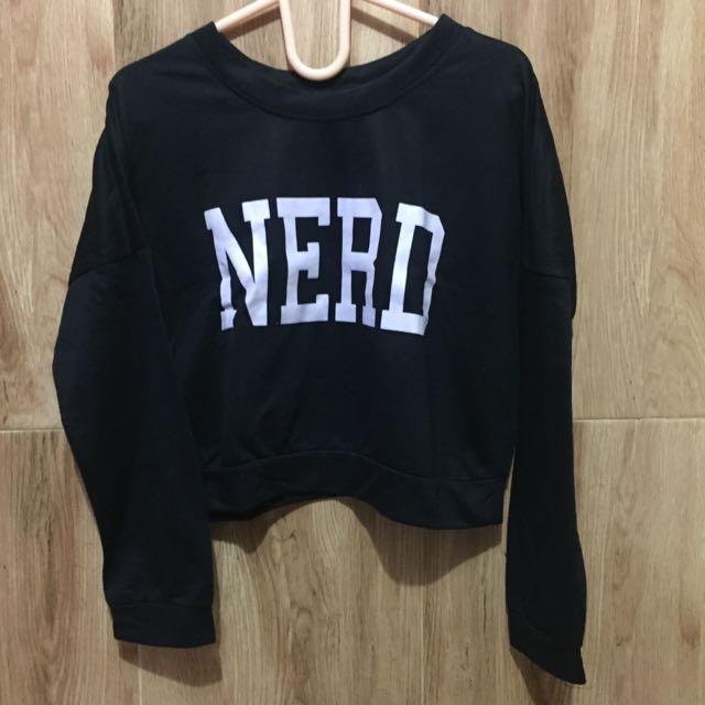 Nerd crop sweater