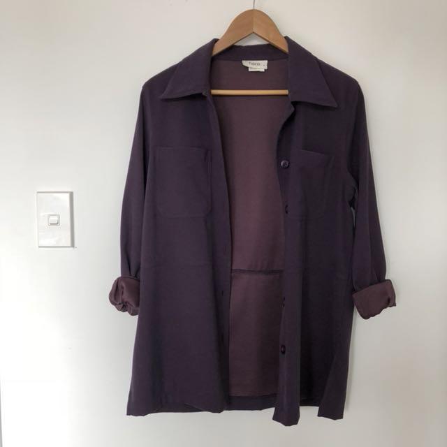 Oversized vintage-look jacket
