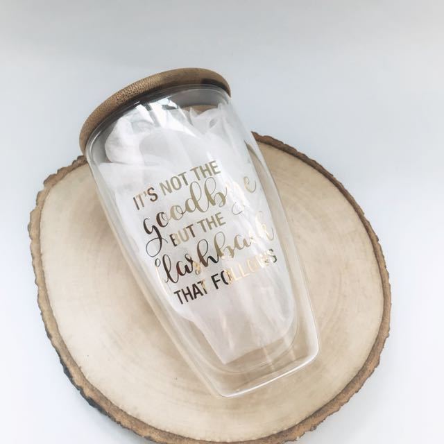 Personalized Quotes Glass Tumbler Design Craft Others On Carousell