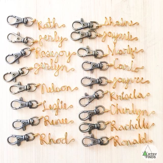 Personalized Wire Keychains