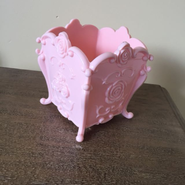 Pink Ornate Rococo Shabby Chic Kawaii Plastic Holder
