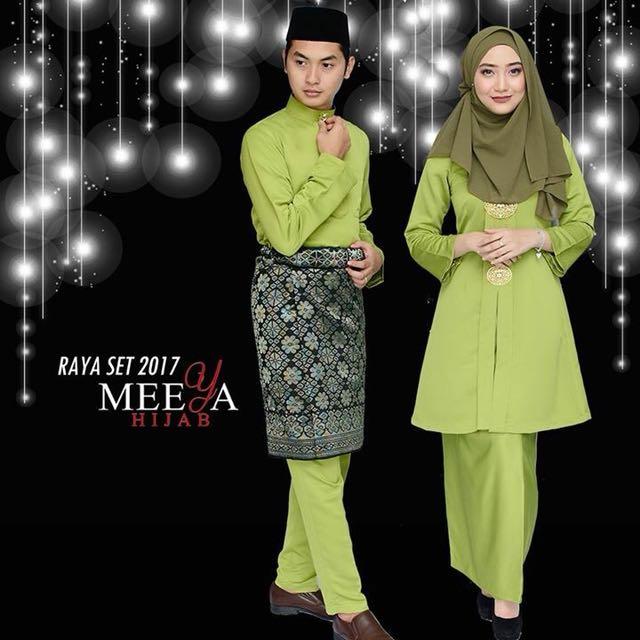 Plussize Kebarung Colour Hijau Pucuk Pisang Muslimah Fashion Tops On Carousell