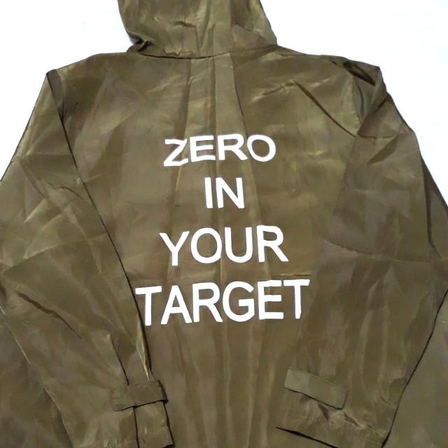 """[po] """"zero in your target"""" versatile zip hoodie cardigan/jacket"""