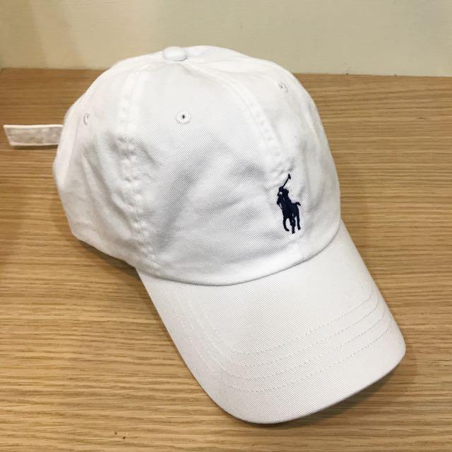 ⚪️POLO 老帽 彎帽 復古 白色深藍馬(經典配色)