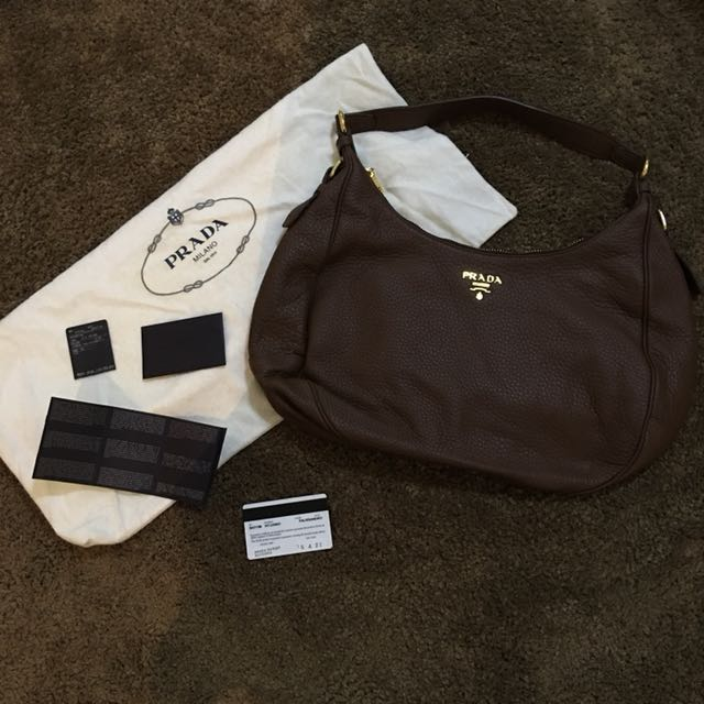 PRADA Brown Shoulder Bag