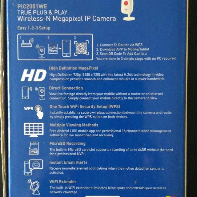 prolink ip webcam model PIC2001WE, Bulletin Board, Looking