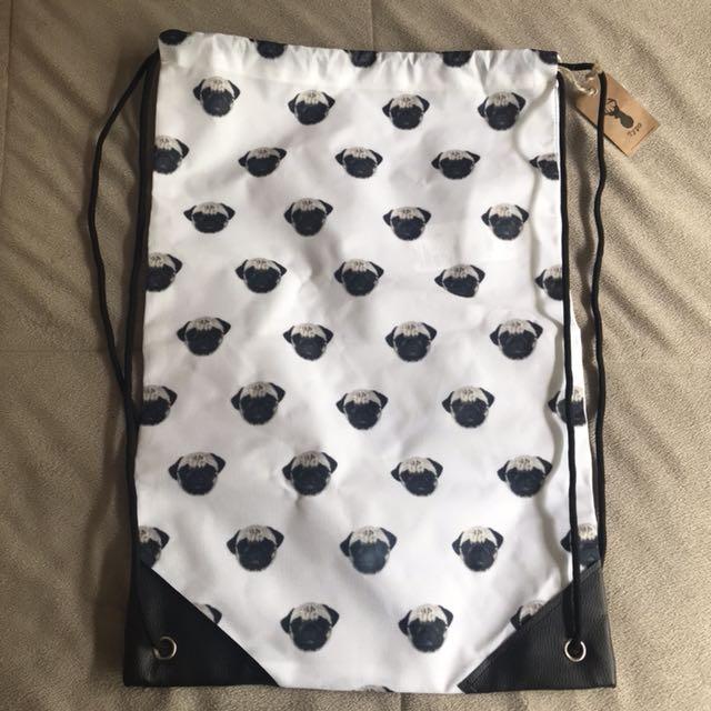 pug book bag