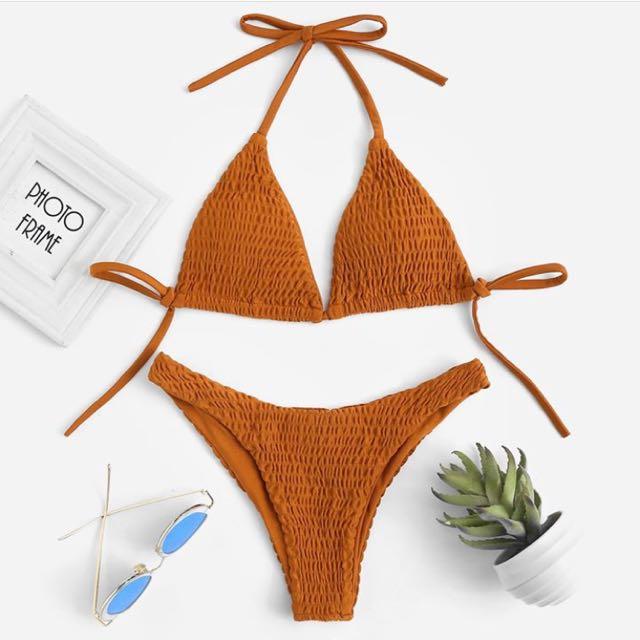Rust colour bikini size S