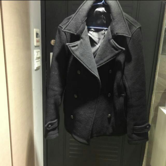 免運,Ships M號黑色雙排扣外套,超新,原價1480
