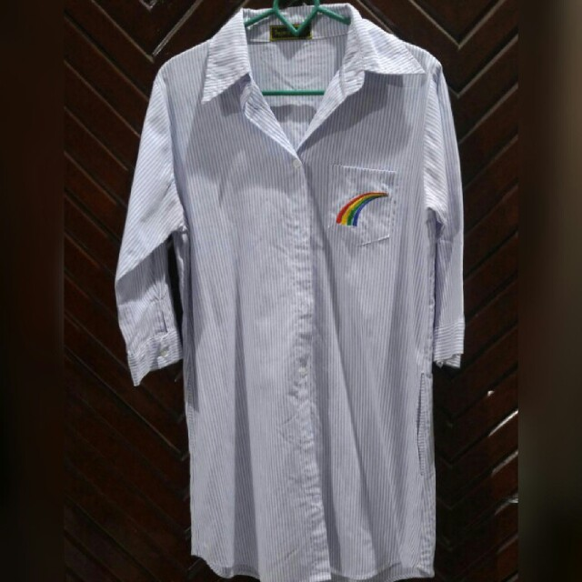 Shirt panjang bergaris