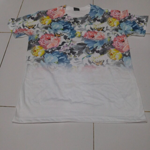 Shirt white flower
