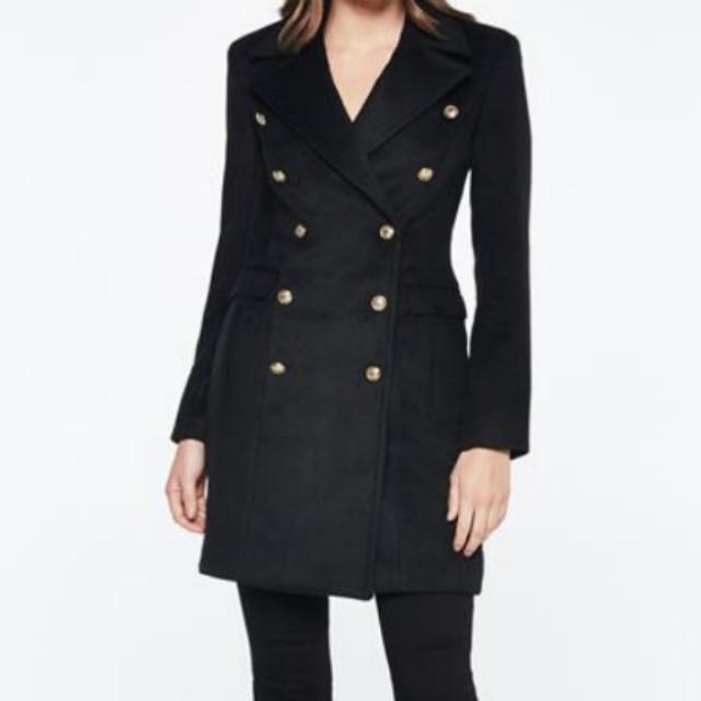 Size 6 brand new bardot black coat