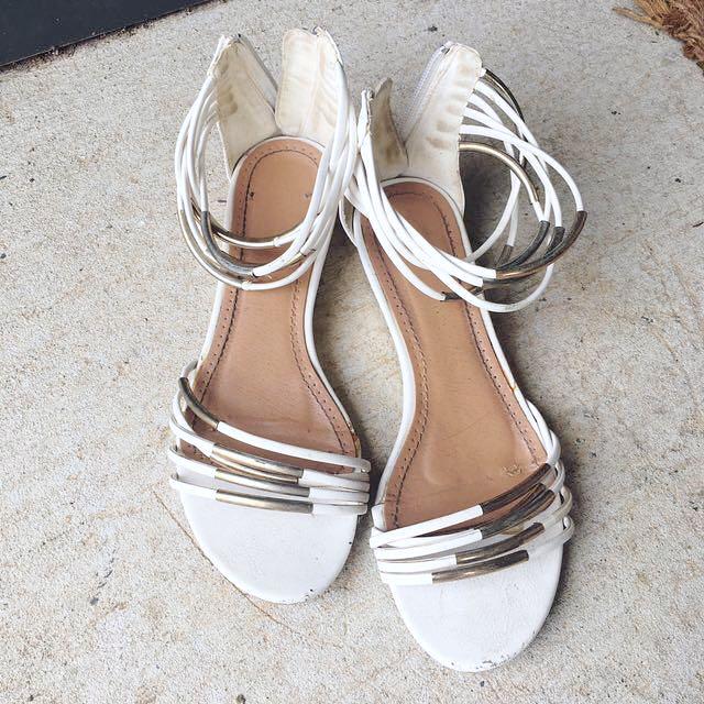 Size 6 white sandals