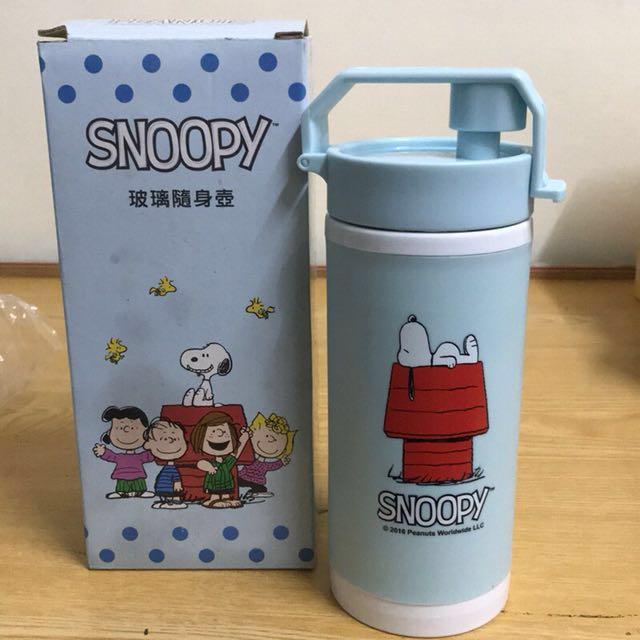 SNOOPY 史努比玻璃水壺玻璃瓶