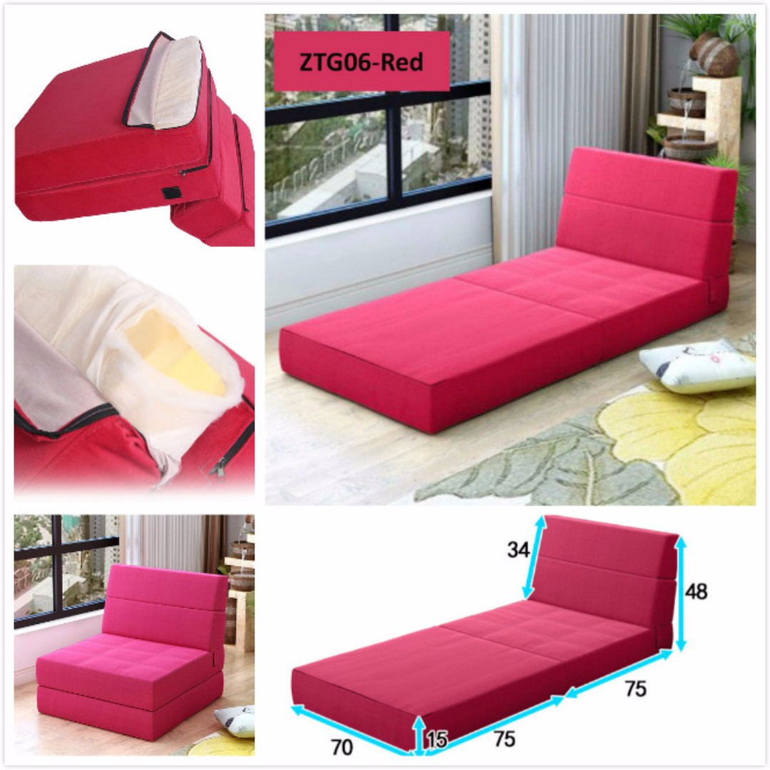 Lazy Sofa Bed Portable Inflatable Sofa Single Bed Beach