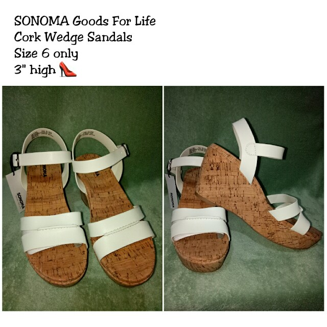 SONOMA Cork Wedge Sandals