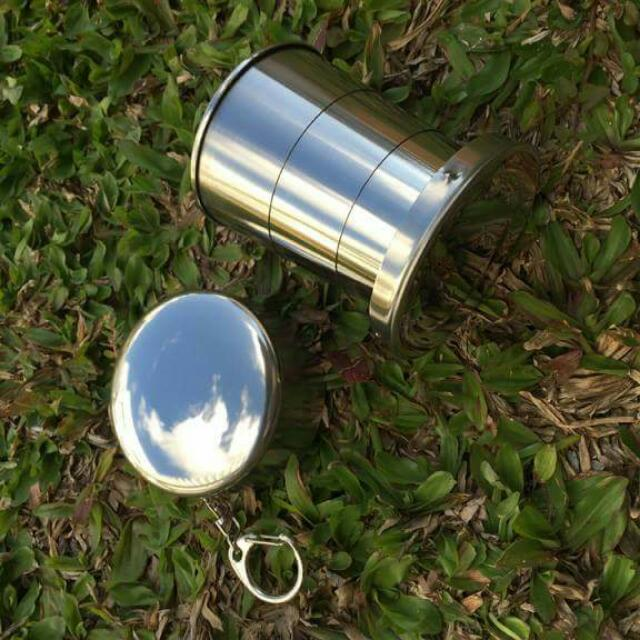 STAINLESS TELESCOPIC CUP -Backpacker