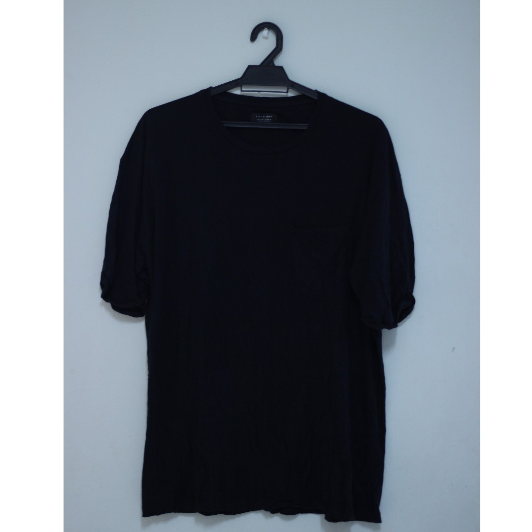 620aa531 T Shirt Zara Man Plain Shirt, Men's Fashion, Clothes, Tops on Carousell