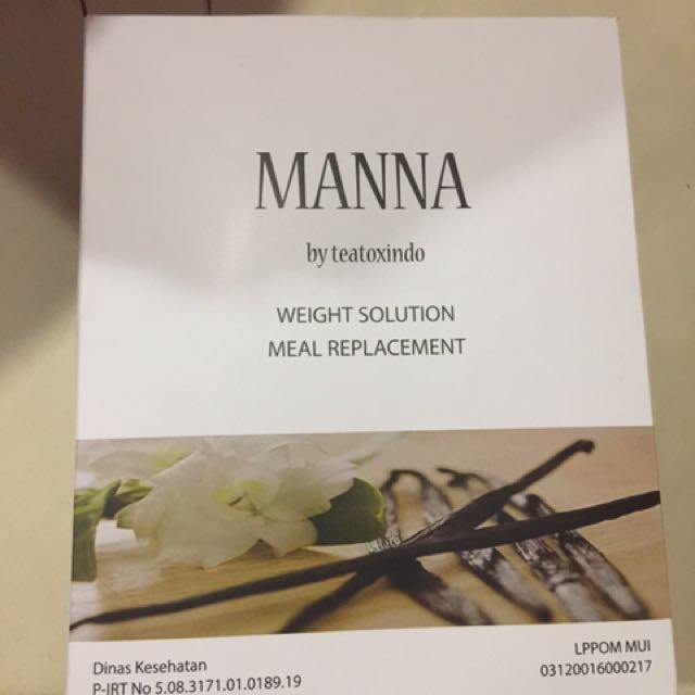 Teatox indo manna meal replacement