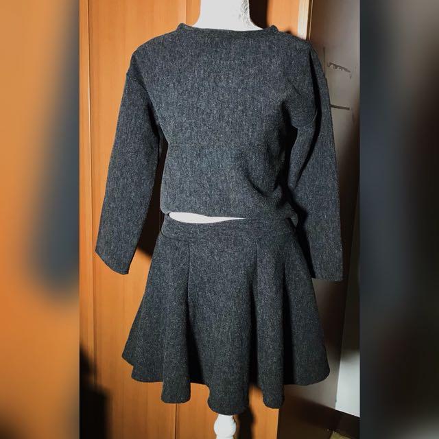 Terno Longsleeves & Skirt Knitted