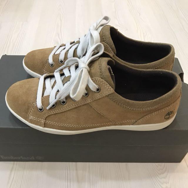 正品Timberland麂皮鞋5.5