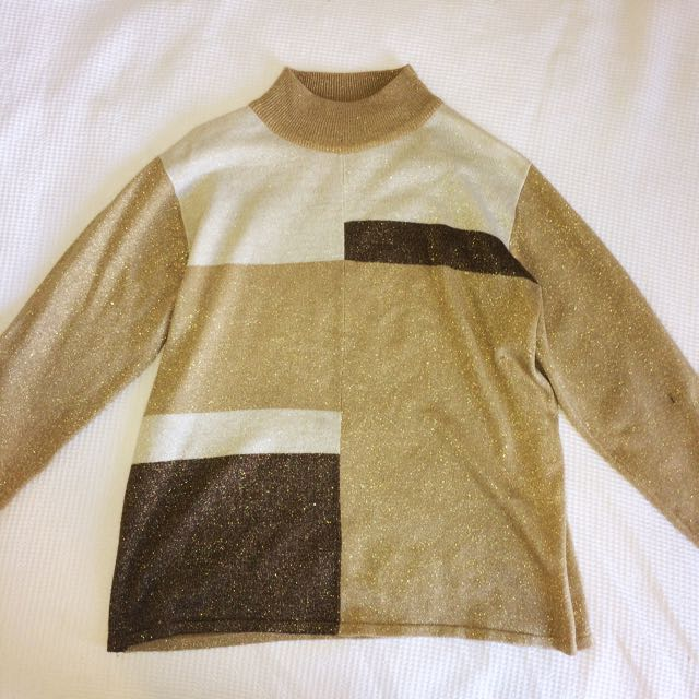 Vintage gold sweater