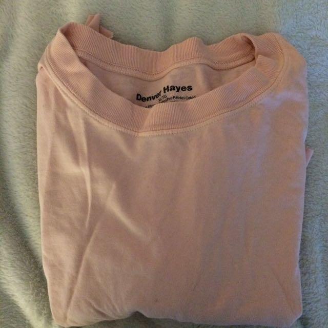Vintage pink cropped tee