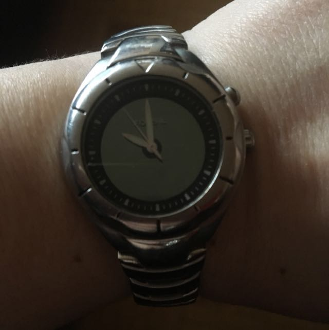 Woman's Silver Link Fossil Watch