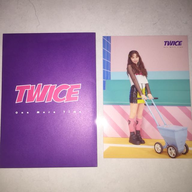 WTS TWICE CHAEYOUNG ONE MORE TIME JAPAN RANDOM TRADING CARD