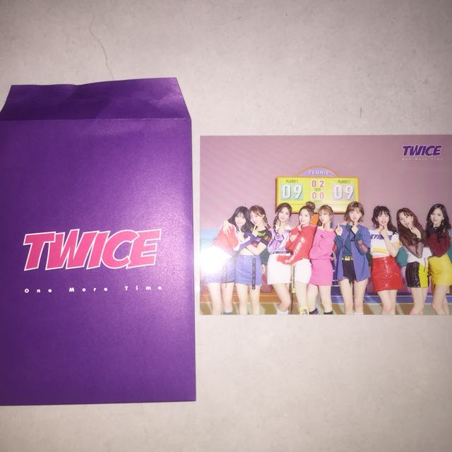 WTS TWICE GROUP ONE MORE TIME JAPAN RANDOM TRADING CARD