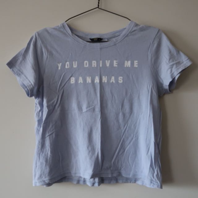 You Drive Me Bananas Crop Tee