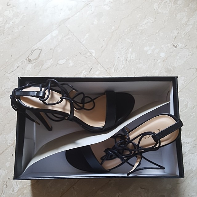 aea921c737 Zalora lace up high heels size 37 new, Women's Fashion, Shoes on Carousell