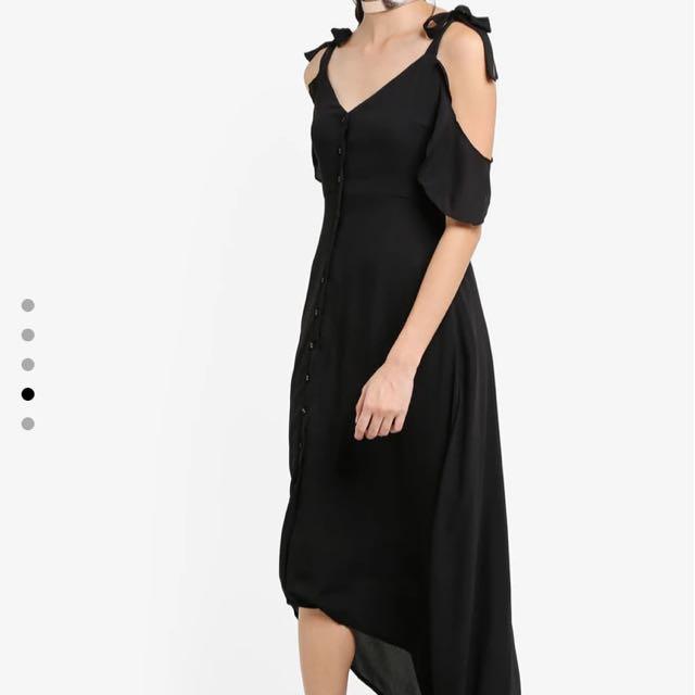 Zalora Off Shoulder Chiffon Dress