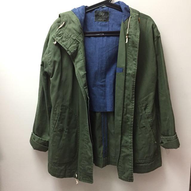 Zara軍綠外套