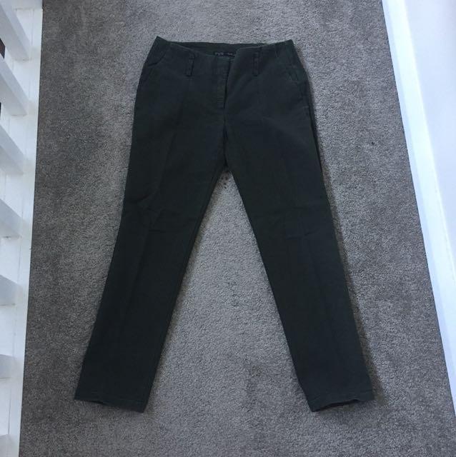 Zara Olive Green Pants (used)