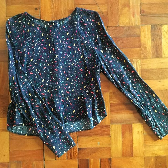 Zara Trafaluc Semi-Crop Long Sleeves