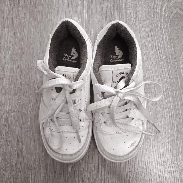 ZARA White Rubber Shoes Size 26